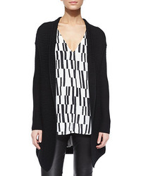 Cs rib drape front cardigan medium 343333