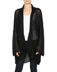 Dc knits black mohair cardigan medium 385086