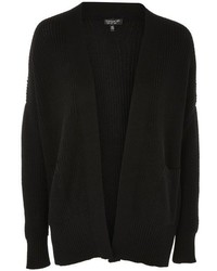 Topshop Knitted Ribbed Cardigan