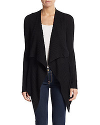 Max Studio Ribbed Open Front Cardigan
