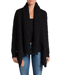 Open Draped Knit Cardigan