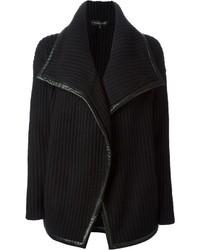 Ralph Lauren Black Ribbed Oversized Cardigan