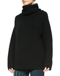 Black Knit Oversized Sweater