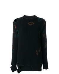 Distressed holey sweater medium 8299063