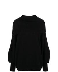Foldover rib knit sweater medium 8621060