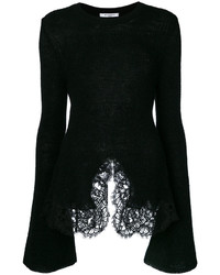 Givenchy Knit Lace Trim Top
