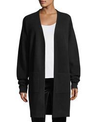 Diane von Furstenberg Long Sleeve Open Front Knit Cashmere Cardigan Sweater