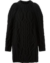 Vera Wang Oversized Cable Knit Sweater