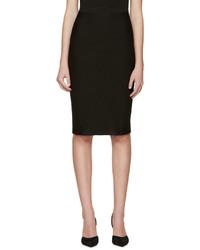 Dsquared2 Black Knit Pencil Skirt