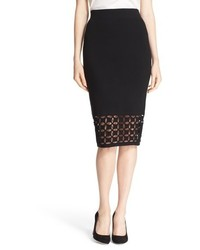 Lattice border knit pencil skirt medium 785056