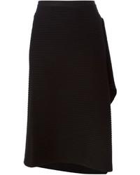 Maison Margiela Ribbed Wrap Skirt