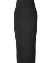 Joseph Ribbed Stretch Knit Midi Skirt