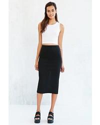 Silence & Noise Silence Noise Uni Ribbed Midi Skirt