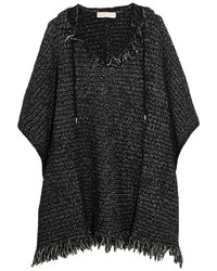 Black Knit Poncho