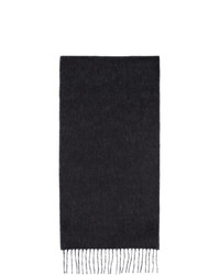 Loewe Black And Off White Anagram Scarf