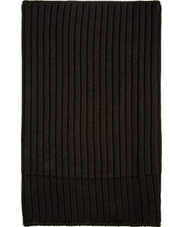 Black knit merino neck warmer medium 110311