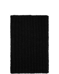 Rick Owens Black Knit Tube Fisherman Scarf