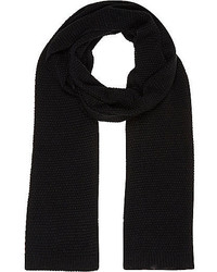River Island Black Knitted Scarf