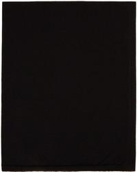Rick Owens Black Wool Knit Scarf