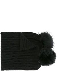 Blugirl Pom Pom Knitted Scarf