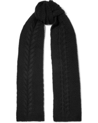 Portolano Cable Knit Cashmere Scarf