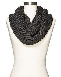 Merona Chunky Knit Infinity Neck Warmer Black