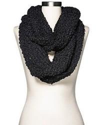 Merona Chunky Knit Infinity Scarf Black