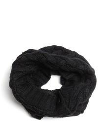 Vince Camuto Egret Cable Knit Fringe Muffler Scarf