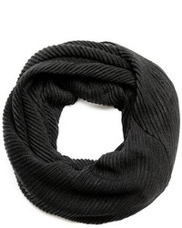 GUESS Black Ribbed Infinity Scarf