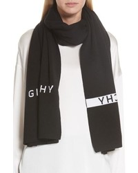 Givenchy Knit Logo Wool Scarf