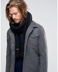 Diesel Knitted Cable Scarf