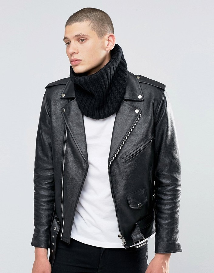 400dddb3a Asos Knitted Infinity Scarf In Black, $12 | Asos | Lookastic.com