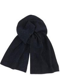 Theory Marled Knit Scarf Black