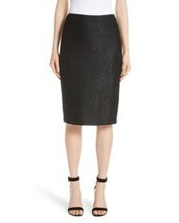 St. John Collection Shimmer Sequin Knit Skirt