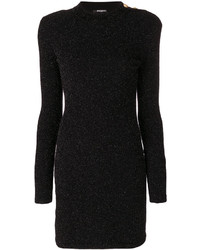 Balmain Button Embellished Knit Dress