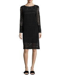 Nic+Zoe Long Sleeve Lacy Knit Sheath Dress