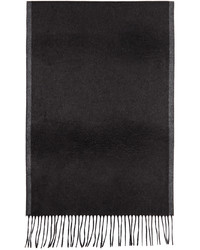 Salvatore Ferragamo Black Grey Silk Scarf