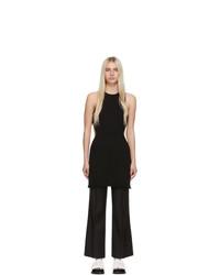 Marina Moscone Black Silk Cut Away Tunic Dress
