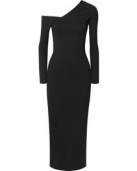 The Range Alloy One Shoulder Ribbed Knit Midi Dress