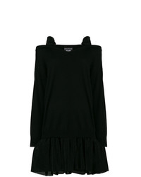 Boutique Moschino Cold Shoulder Tulle Skirted Sweater Dress