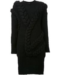 Le Ciel Bleu Braided Detail Sweater Dress