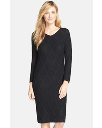 Andrew Marc Marc New York By Metallic Cable Knit Sweater Dress