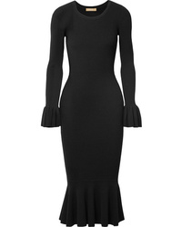 Michael Kors Collection Med Ribbed Stretch Knit Midi Dress