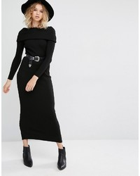 Mango Off The Shoulder Knitted Sweater Dress