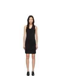 Helmut Lang Black Asymmetric Tank Dress