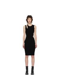 Helmut Lang Black Layered Slash Tank Dress