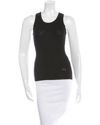 Stella McCartney Rib Knit Racer Back Tank Top