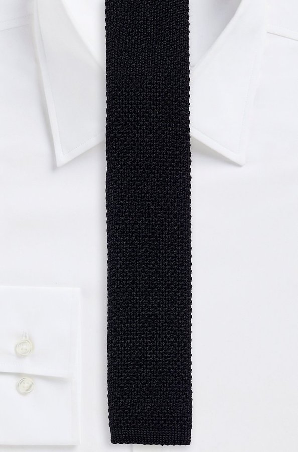 Hugo boss 5 cm knitted tie skinny solid knit italian wool tie black hugo boss 5 cm knitted tie skinny solid knit italian wool tie black ccuart Choice Image