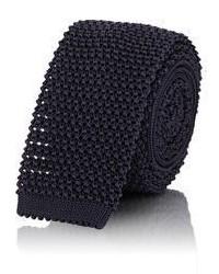 Ralph Lauren Purple Label Crochet Knit Necktie Blue