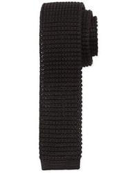 Lanvin Knit Silk Tie Black